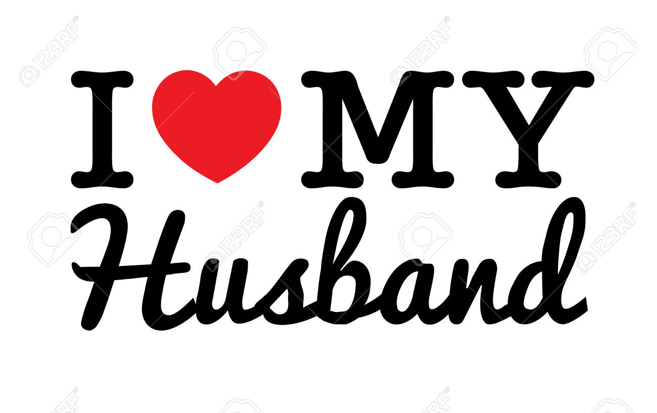I Love My Husband Vector