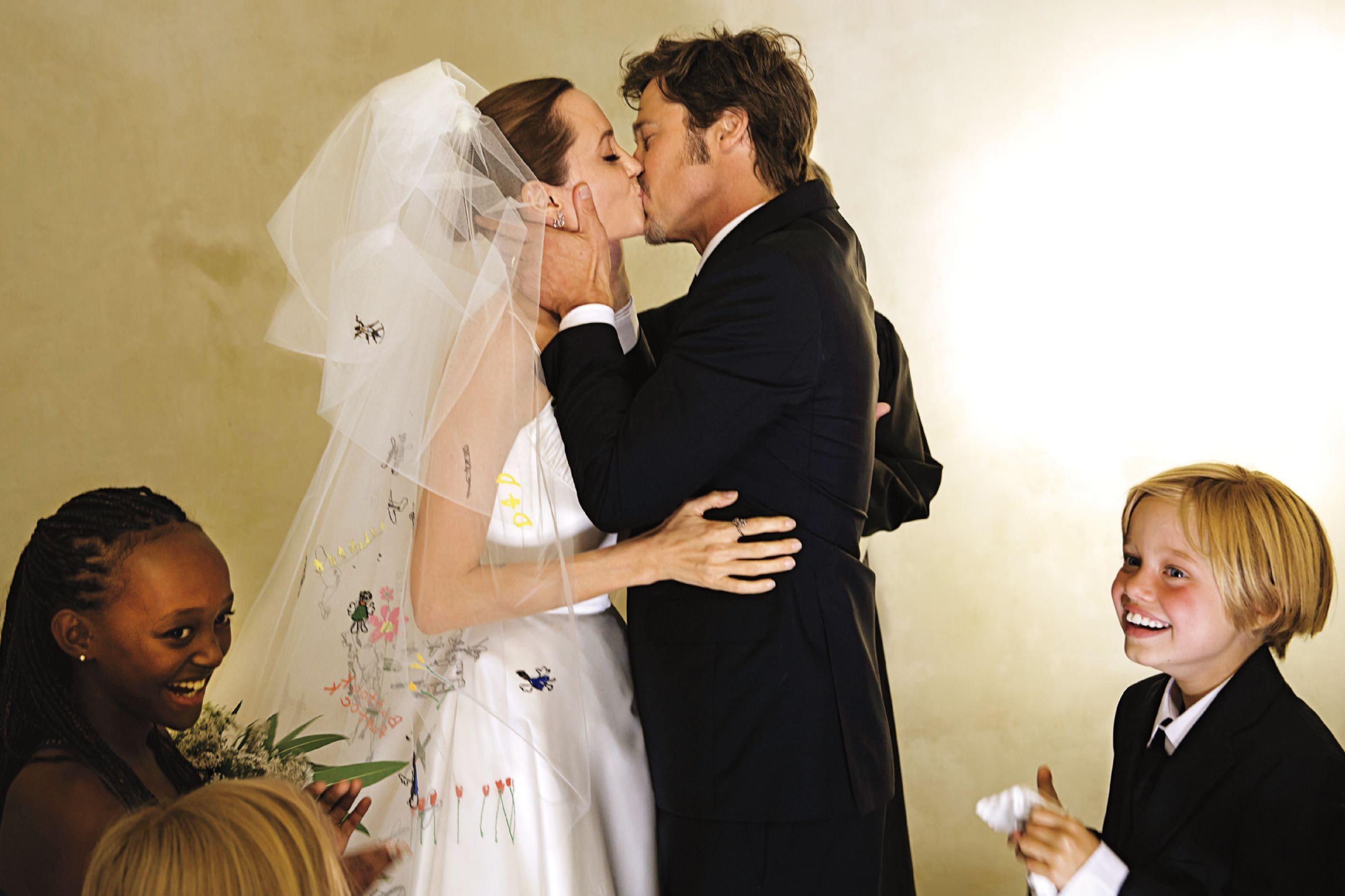 Brad & Angelina Wedding Photos