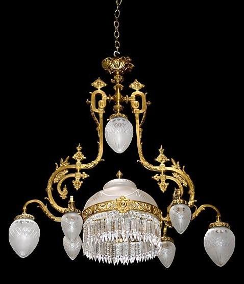 Antique Crystal Chandeliers Victorian