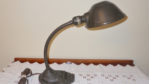 Antique Desk Lamps Flex Neck Cast Iron Base