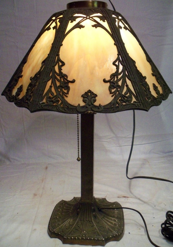 Antique Table Lamps With Glass Shades
