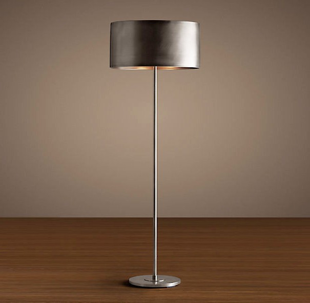 Arched Floor Lamp With Drum Shade
