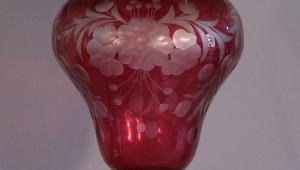Cranberry Glass Floor Lamps