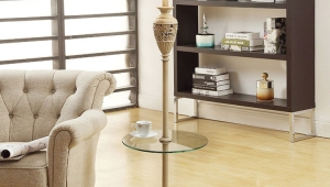 Floor Lamps With Glass Tray