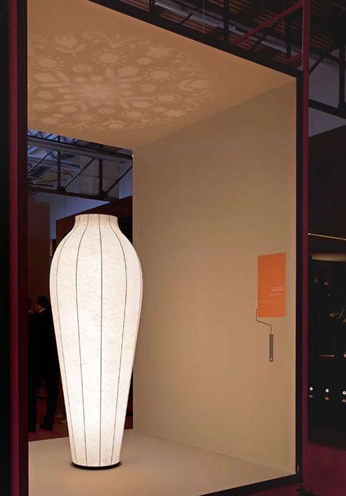 Flower Vase Floor Lamp Resin Shade Flos 2