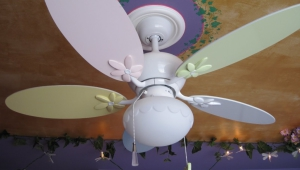 Girls Chandelier Ceiling Fan Light Kit