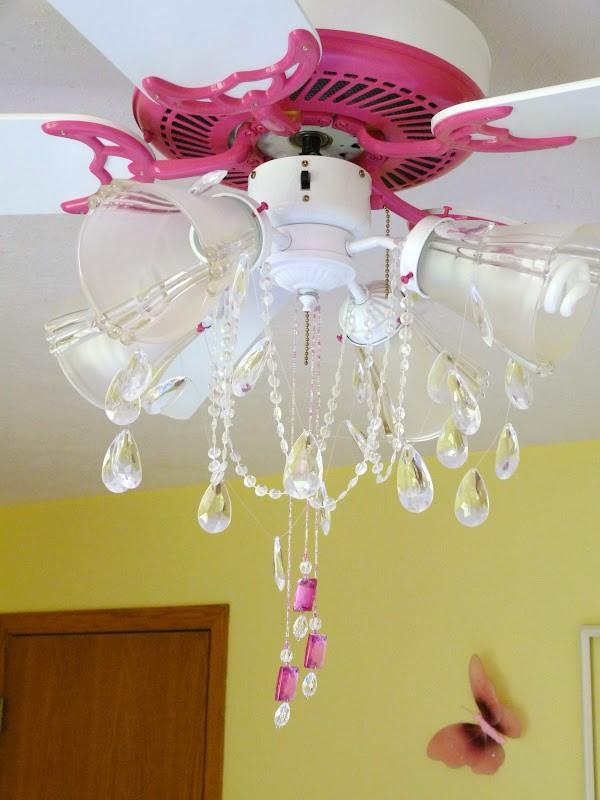 Girls Chandelier Ceiling Fan