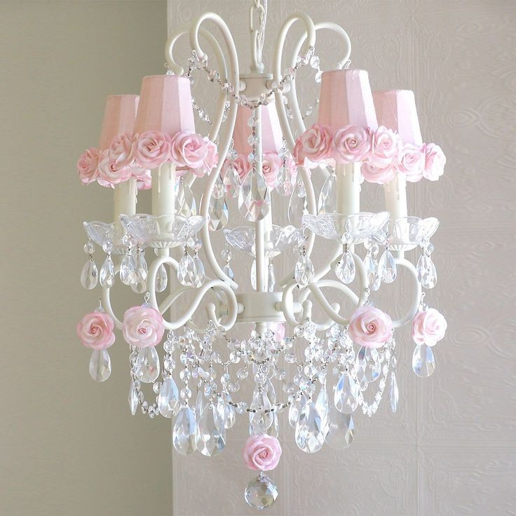 Girls Chandeliers With Rose Trim