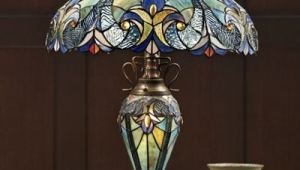 Halston Tiffany Table Lamps