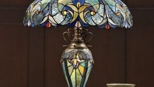 Halston Tiffany Table Lamps
