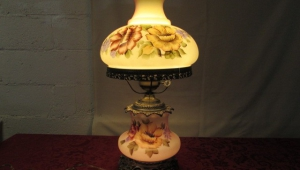 Hand Painted Vintage Lamps