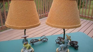 Lamps Vintage Women Figurines