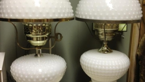 Milk Glass Floor Lamps