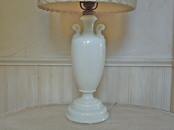Milk Glass Lamps Vintage