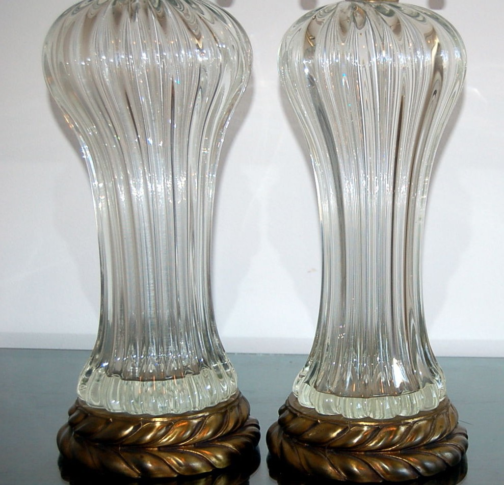 Murano Glass Lamps Vintage