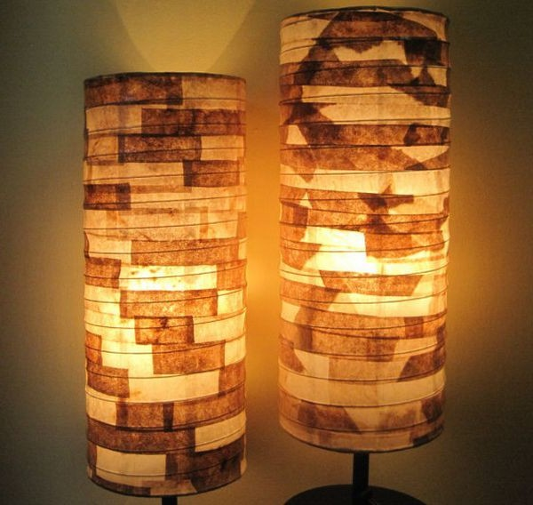 Tall floor paper lantern lamps