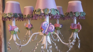 Purple Chandeliers For Girls Room
