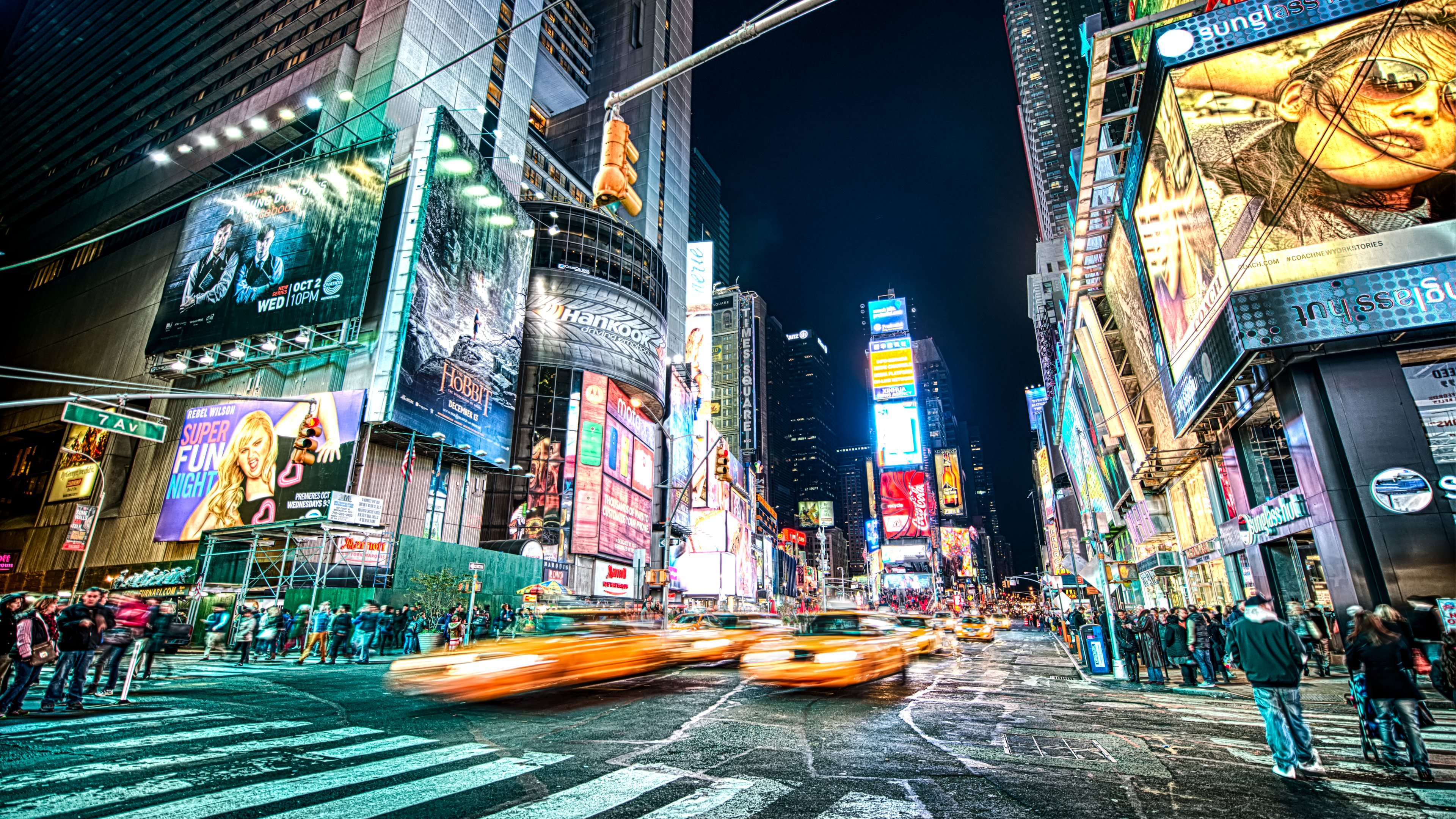 Theater District In Times Square New York Ultra HD