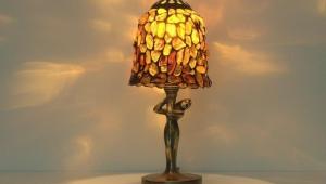 Tiffany Table Lamps Autumn Rose