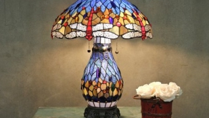 Tiffany Table Lamps With Lighted Base