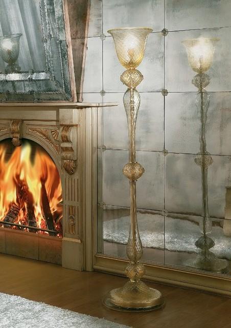 Venetian Glass Floor Lamps