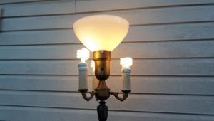 Vintage Floor Lamps Marble Leviton