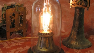 Vintage Floor Lamps With Night Light In Base