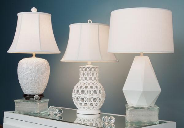 White Lampshades