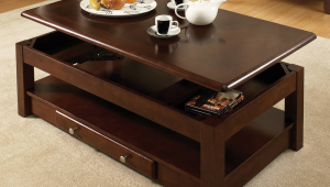 Adjustable Coffee Table With Transformed Top