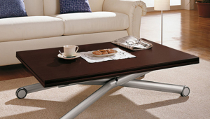 Adjustable Height Coffee Table X Design
