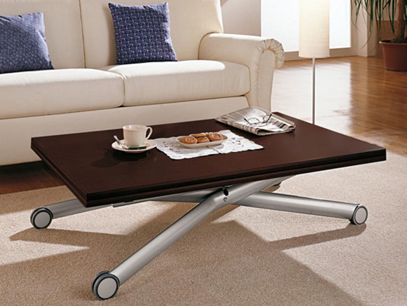Adjustable Height Coffee Table X Design