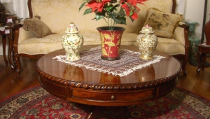 Antique Pedestal Coffee Table