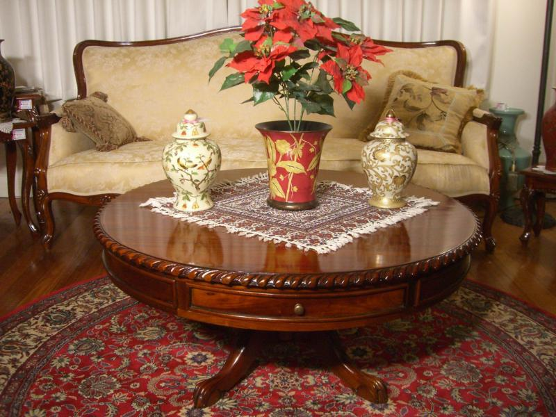 Antique Pedestal Coffee Table