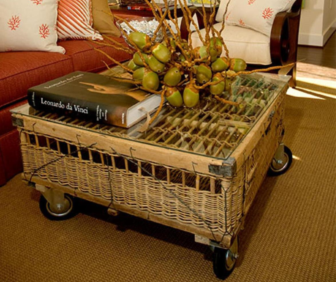 Bamboo Coffee Table On Wheels