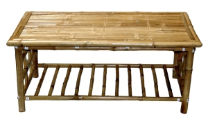 Bamboo Coffee Table With Shelf