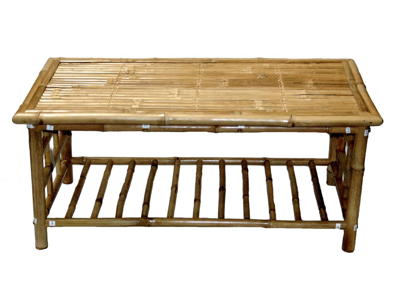 Bamboo Coffee Table With Shelf