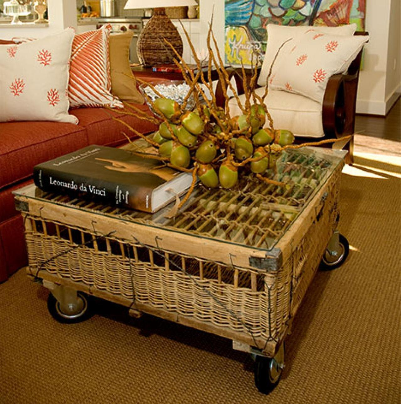 Bamboo Coffee Table With Wheels