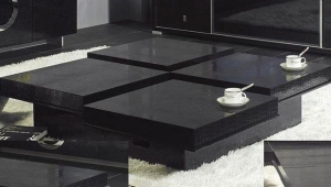 Black Coffee Table With Hidden Storage
