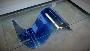 Blue Coffee Table With Glass Top