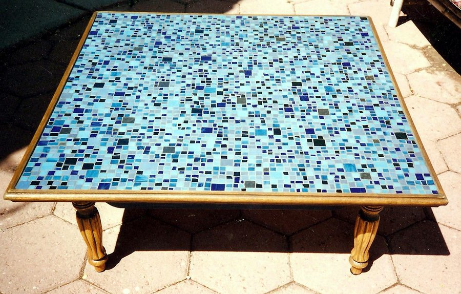 Blue Mosaic Coffee Table