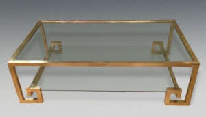 Brass Coffee Table With Shelf