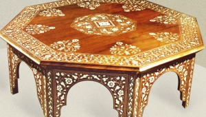 Carved Moroccan Coffee Table