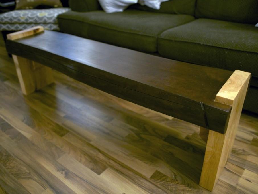 Cherry Wood Slab Coffee Table