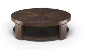 Circular Coffee Table With Open Shelf