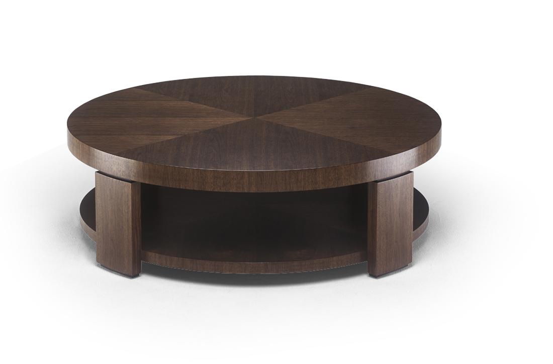 Circular Coffee Table With Open Shelf