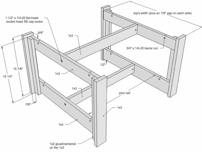 Coffee Table Plan Drawing