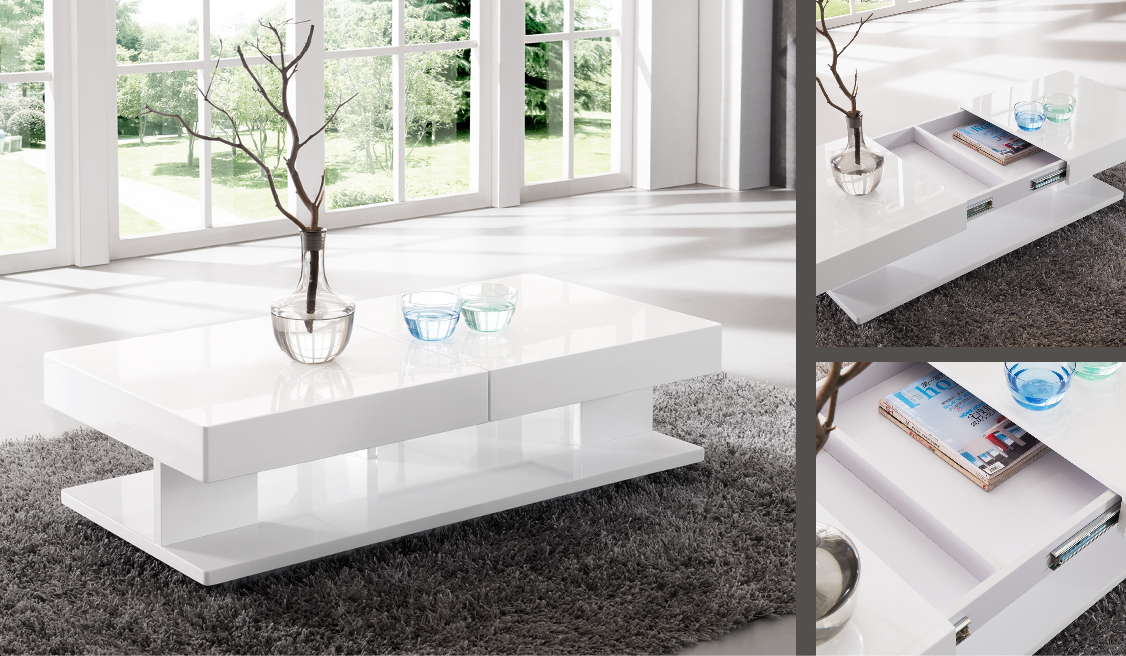 Coffee Table With Fold Out Top
