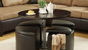 Coffee Table With Hidden Stools For Small Spaces