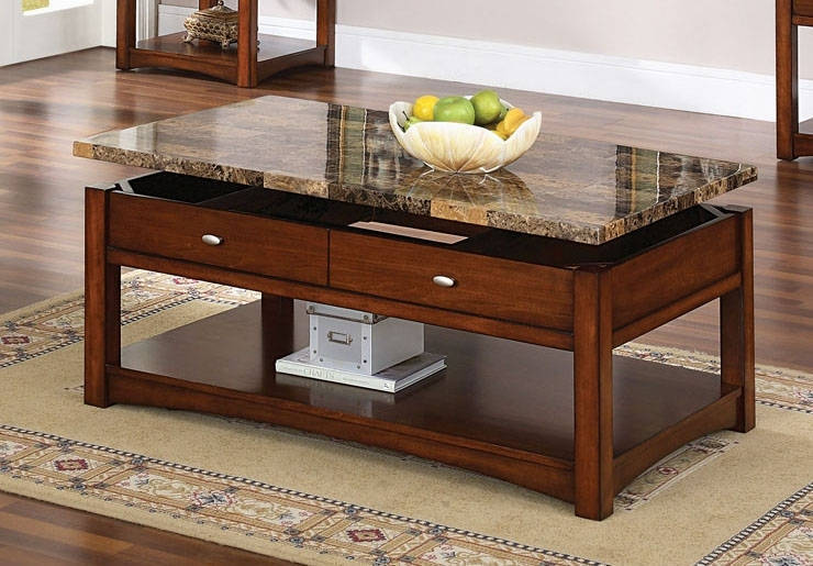 Coffee Table With Lift Granite Top