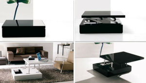 Coffee Table With Sliding Top For Small Spaces